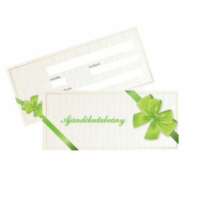Ajándékutalvány - zöld színű